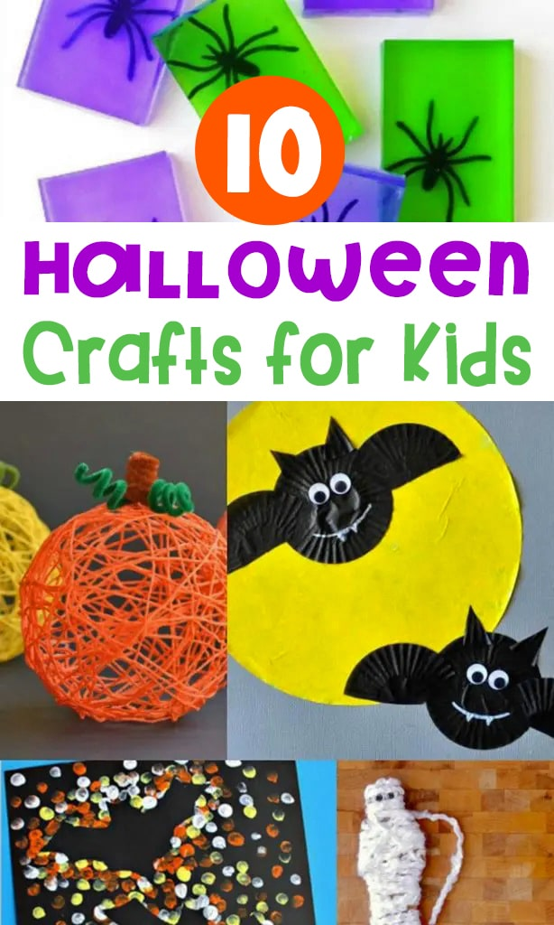 These 10 fun Halloween crafts for kids are cute and not too spooky! They're perfect for kids to create at home or in the classroom!