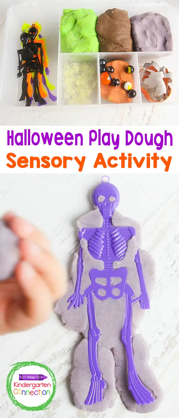 Enjoy some fun, hands-on sensory play at home or in the classroom with this awesome Halloween play dough kit!