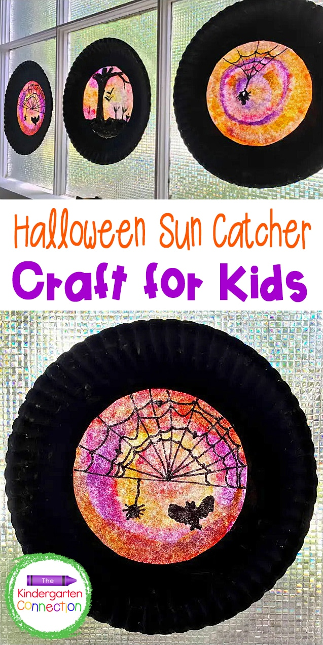 This easy Halloween sun catcher is made from coffee filters and is perfect for adding a bit of spooktacular decor to your home or classroom!