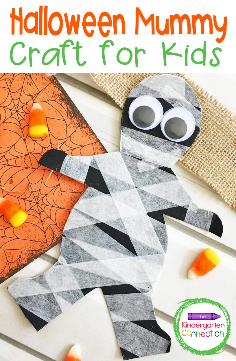 If you are looking for an adorable, simple, and kid-friendly Halloween craft to make this October, then you will love this fun mummy craft!