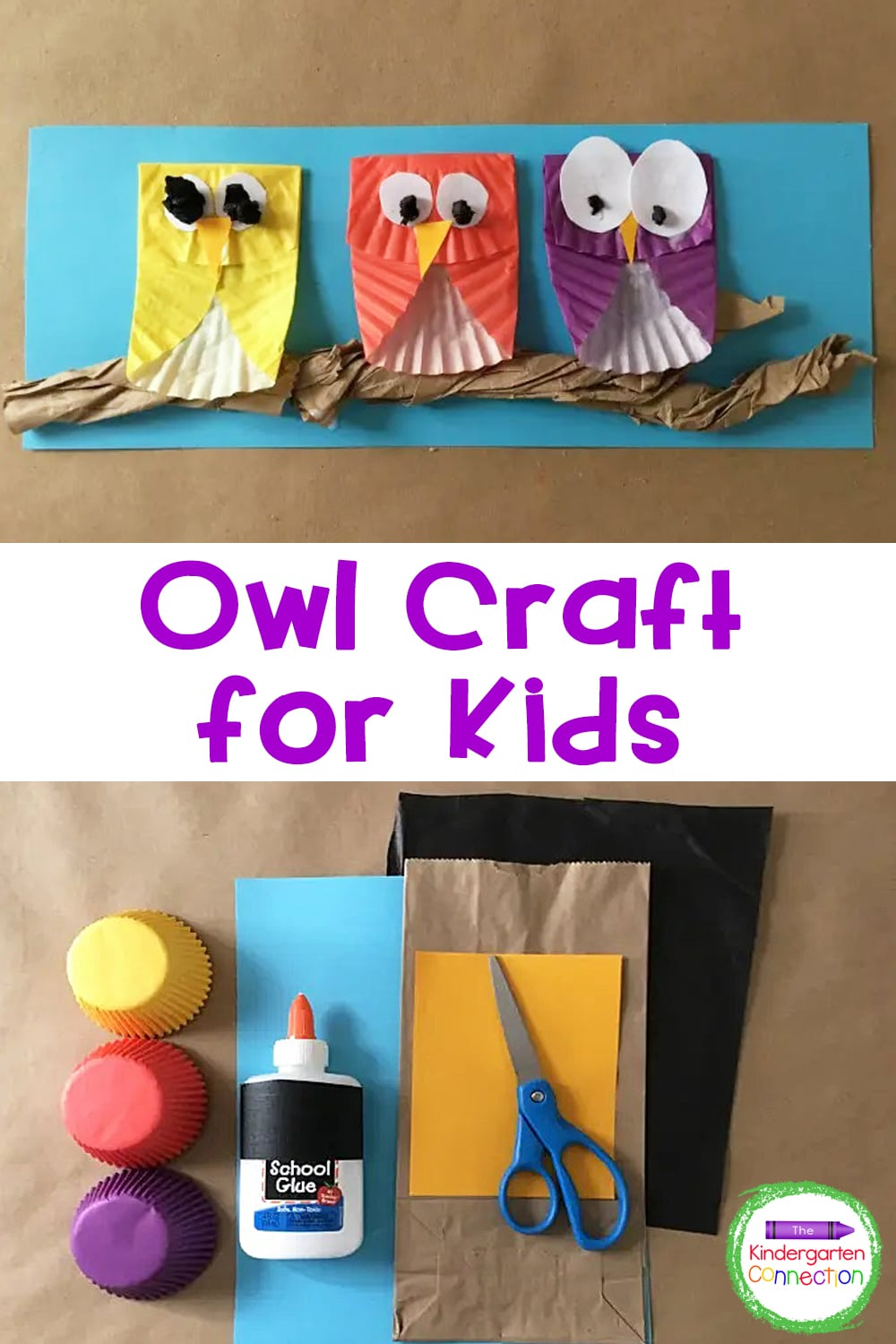 Check out these simple steps for making the MOST adorable owl craft for kids! They make a perfect bulletin board display for fall!
