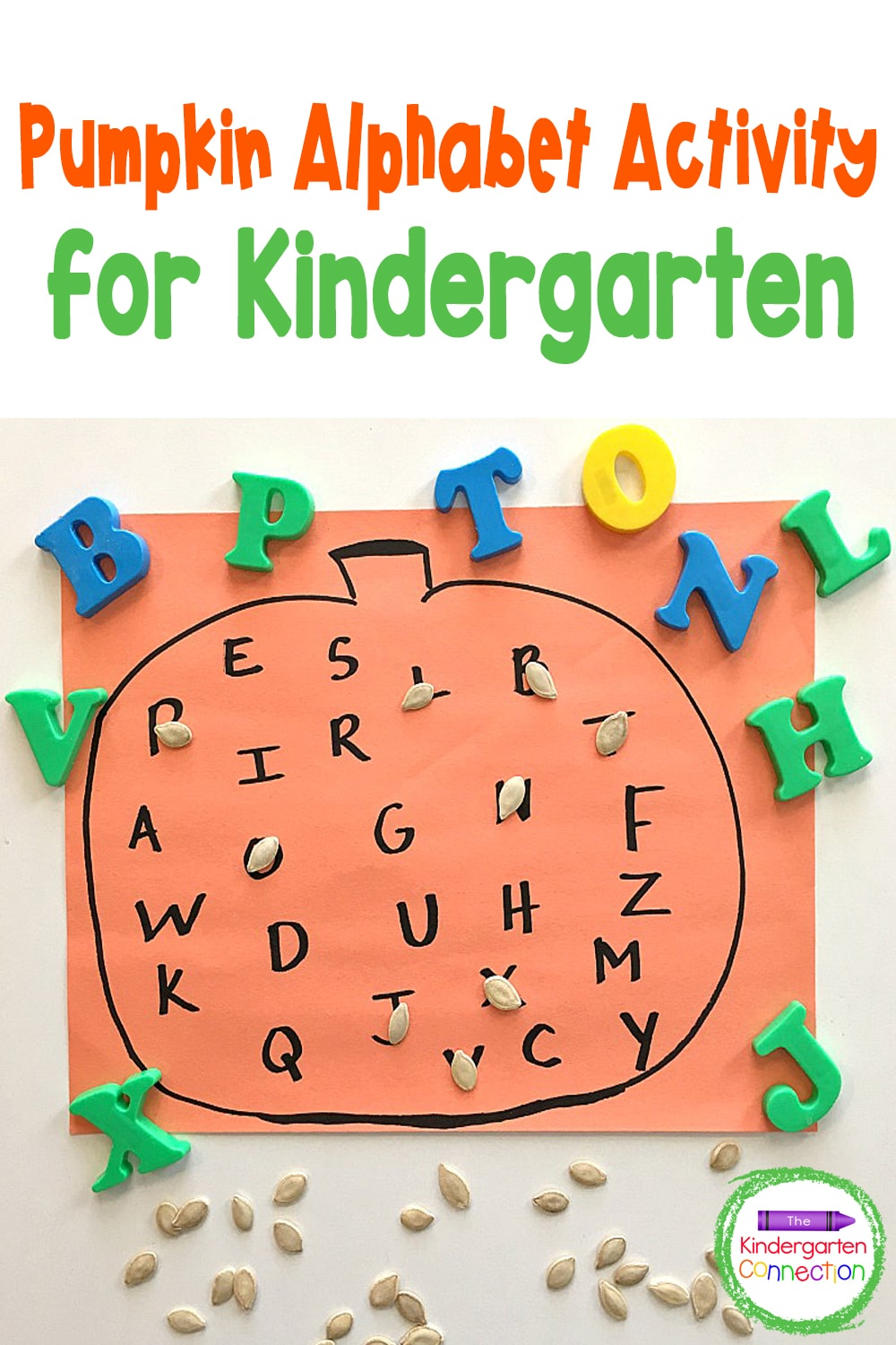 This easy Pumpkin Alphabet Activity is effective, engaging, and so fun to do in any Pre-K or Kindergarten classroom this fall!
