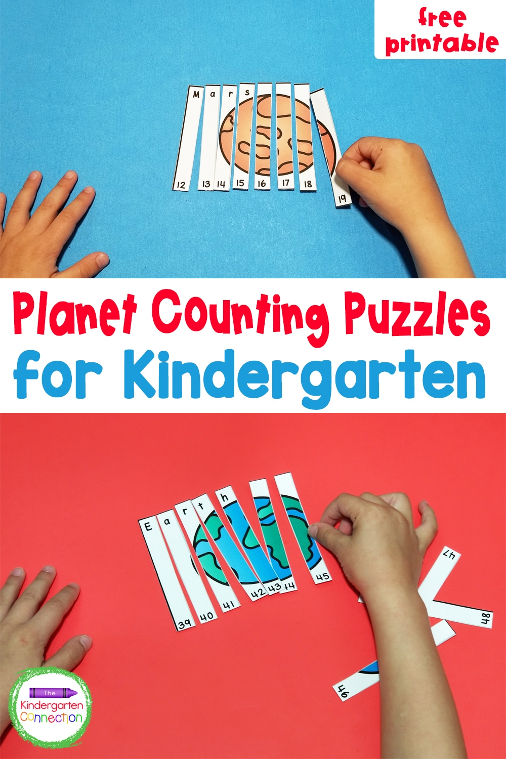 These free Planet Counting Puzzles for kids are a great way to practice number sequencing while learning more about planets and outer space!