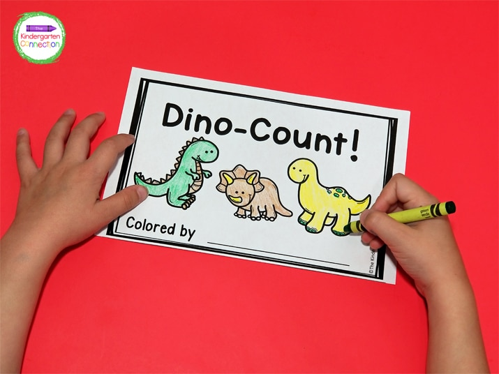 """The cover says """"Colored by"""" so students can feel like little illustrators."""