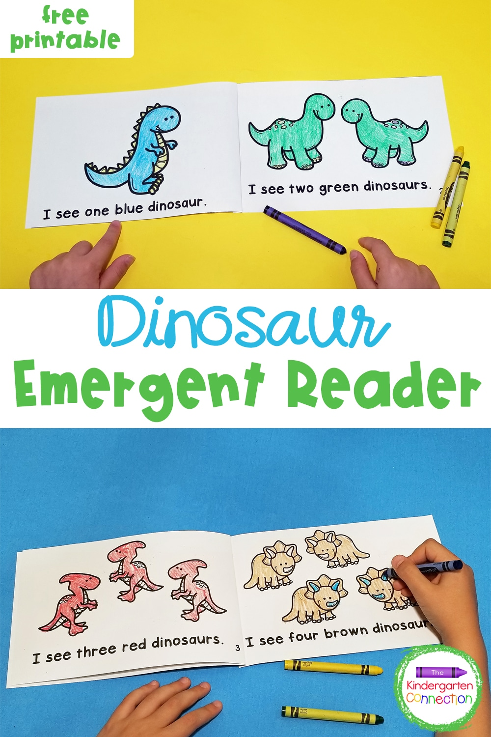 This free Dinosaur Emergent Reader for Pre-K & Kindergarten is a fun companion to your favorite dinosaur books and activities!