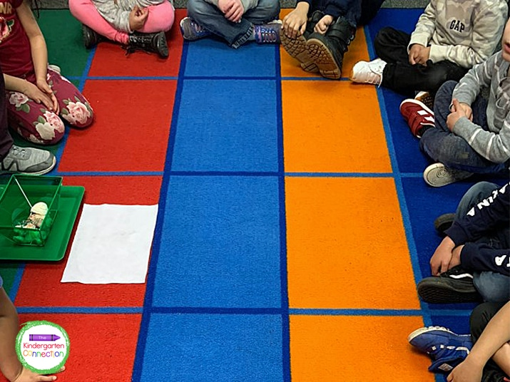 Practice having your students get their backpacks and return to the carpet in separate steps.