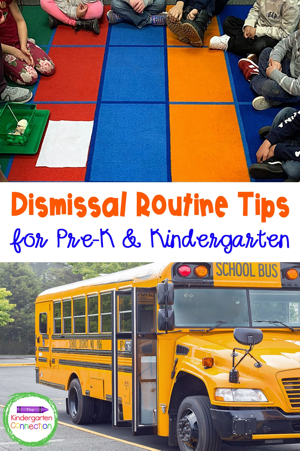 These 3 tips for Pre-K and Kindergarten dismissal routines will be sure to leave you feeling less stressed at the end of the day!