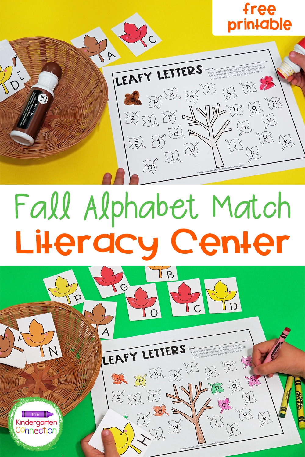 This free Fall Leaf Letter Match will bring some seasonal, alphabet learning fun to your Pre-K and Kindergarten literacy centers!