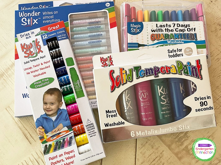 Try adding in some mess-free painting tools like Kwik Stix!