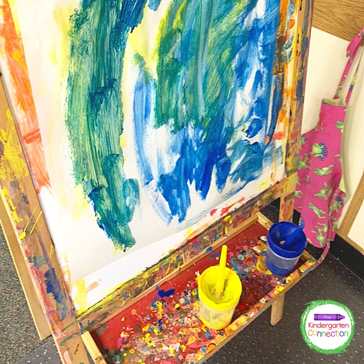 Encouraging students to create with paint and other art supplies freely is so important.