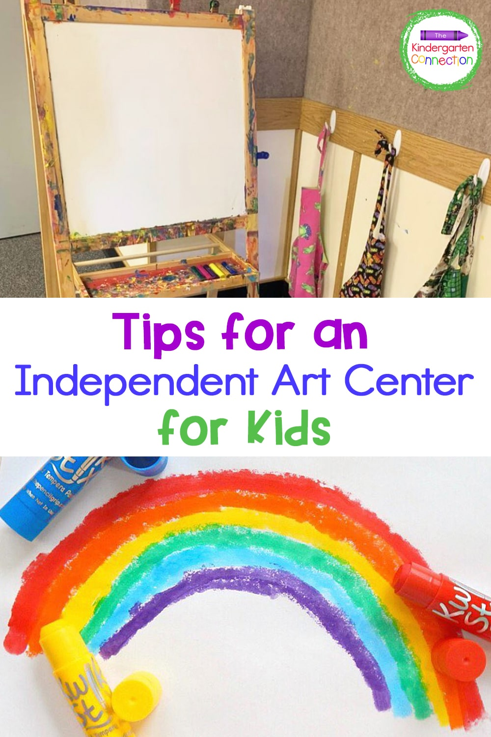 These must-try tips for an independent Pre-K and Kindergarten art center are sure to help you create an art area that your kids will love!