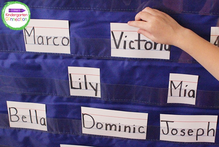 Your arrival routine may begin with something as simple as finding their name and adding it to a pocket chart when they arrive.