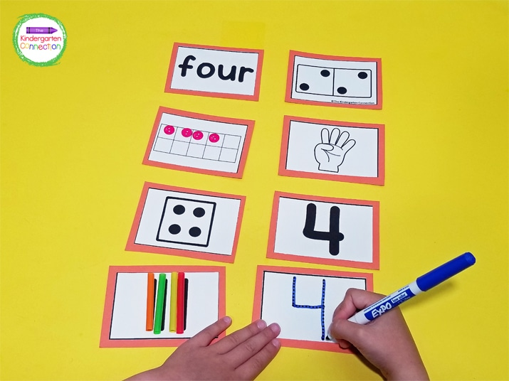 Activities include count on your fingers, trace the number, add the manipulatives to the ten frame, add the sticks to tally, and read the name of the number.