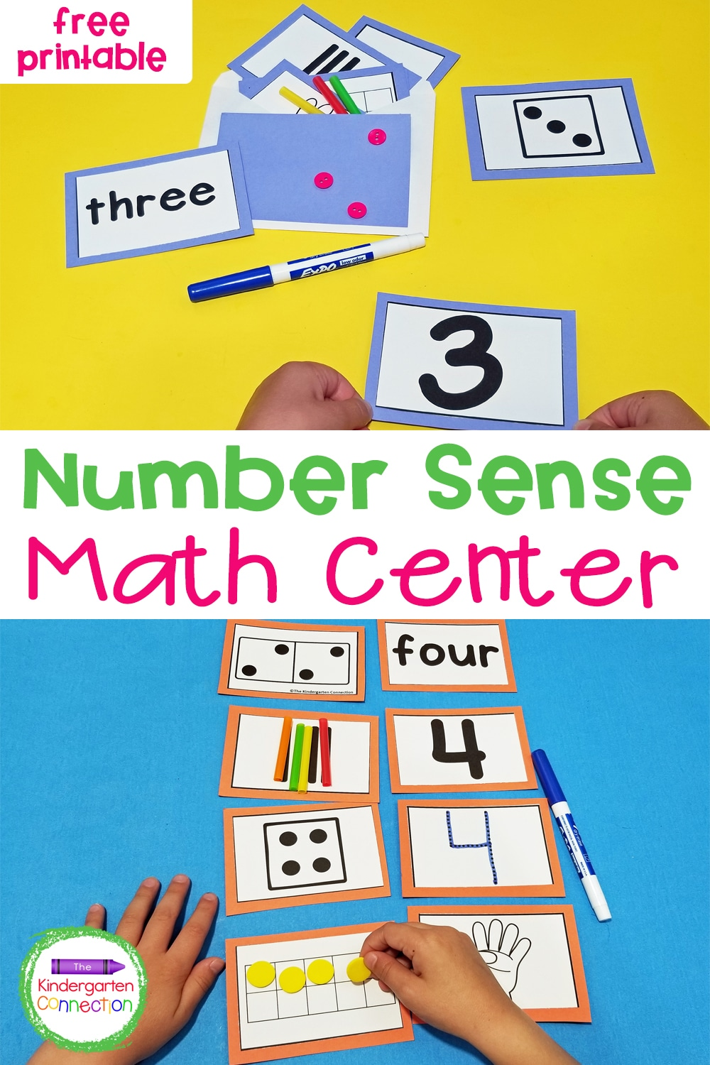 Work on skills like number identification, counting, subitizing, addition, and more with this free Surprise Envelopes Number Sense Activity!