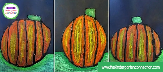 Display your pumpkin art project proudly in your home or classroom.