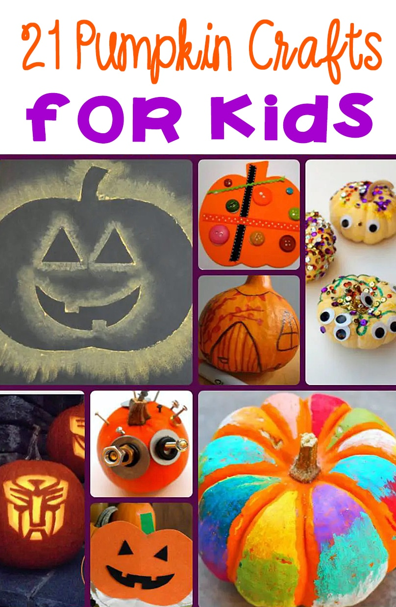 Grab some supplies and start crafting with these fun pumpkin crafts for kids.