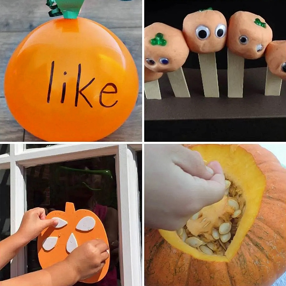 These hands-on pumpkin crafts will be a hit with your kids!