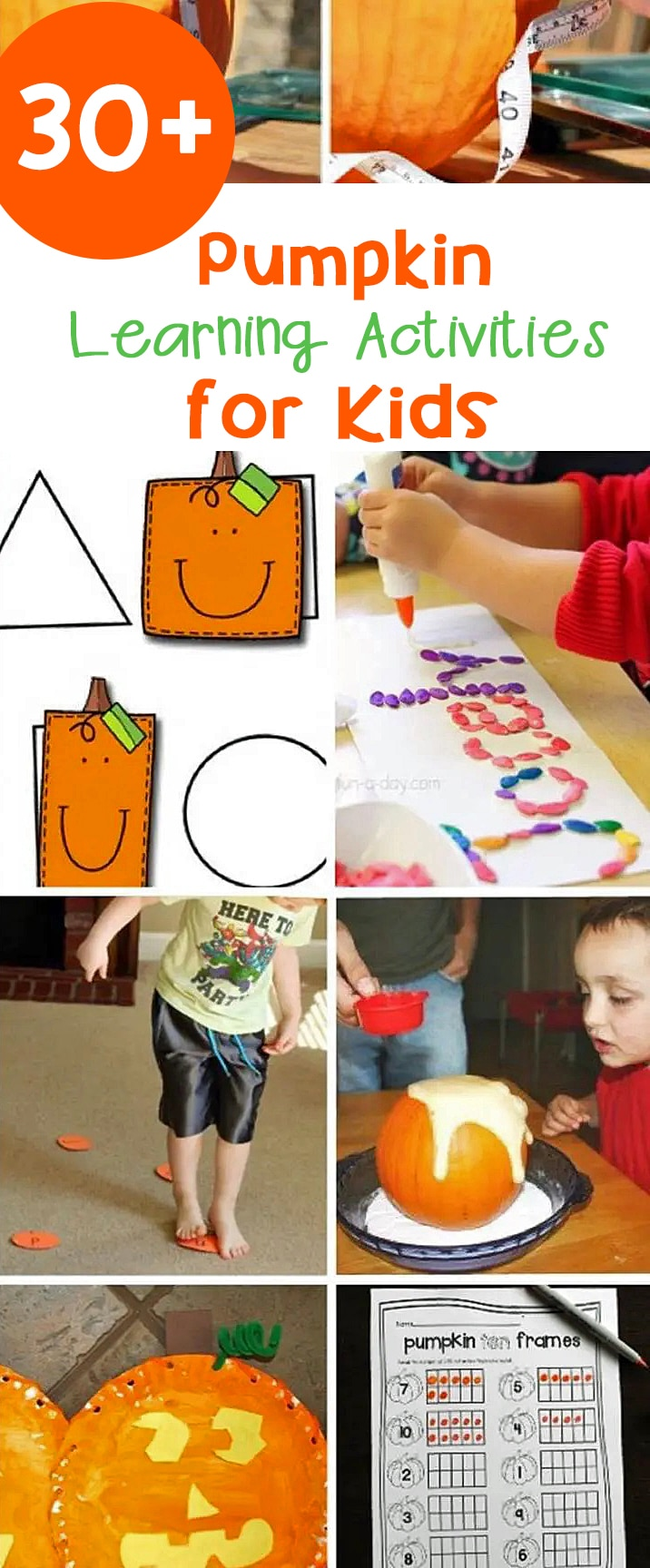 Check out this list of over 30 awesome pumpkin activities for kids to try out this fall in the classroom or at home!