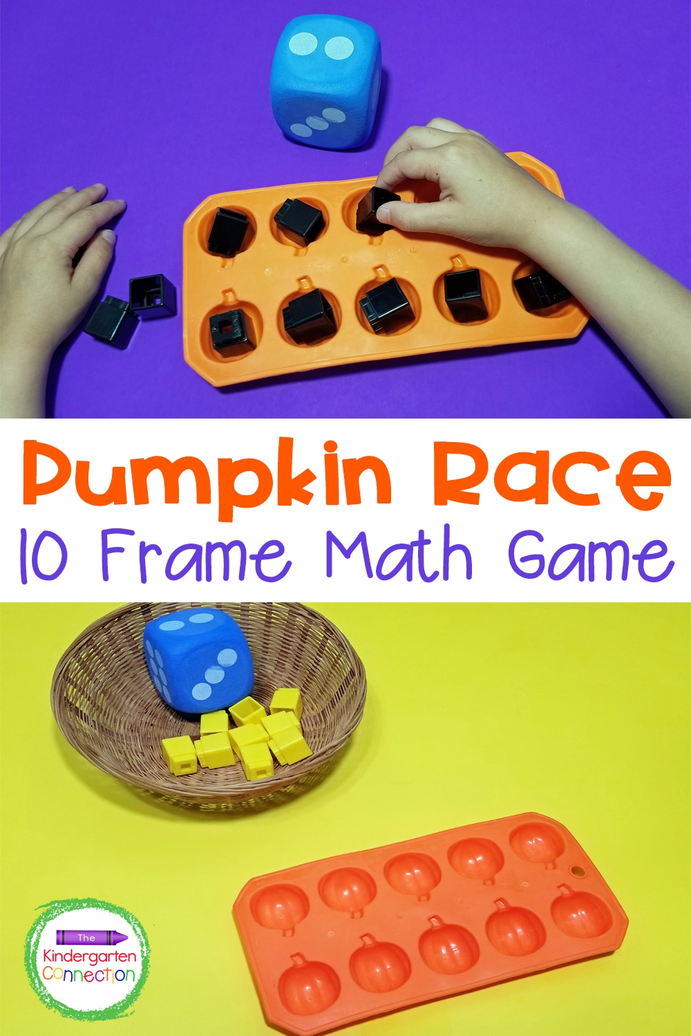 Your students will love this Pumpkin Ten Frame Math Game as they race to see who gets to 10 first while strengthening counting skills!