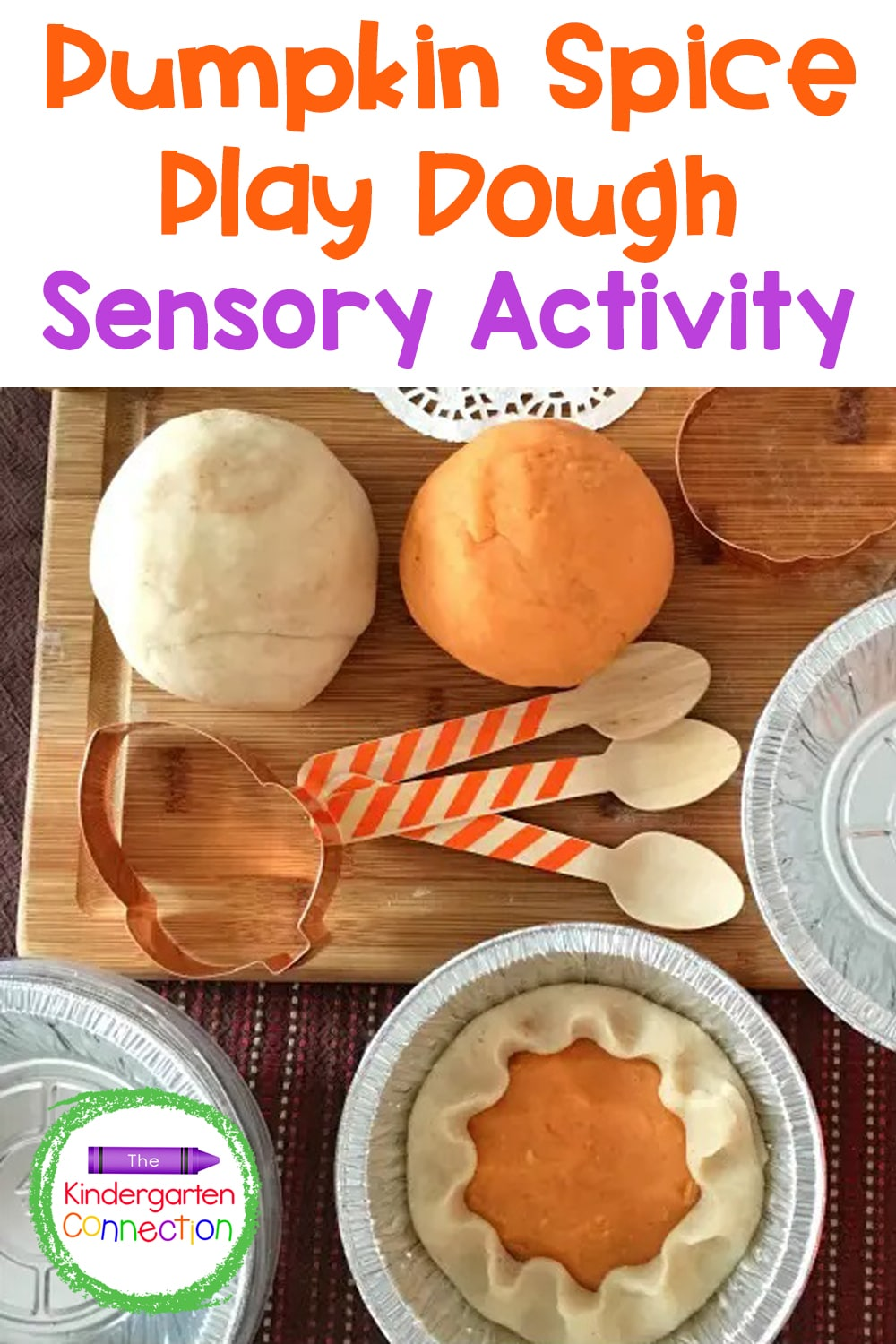 This pumpkin spice play dough is easy to make, and is perfect for dramatic play and sensory exploration this fall in the classroom or home!