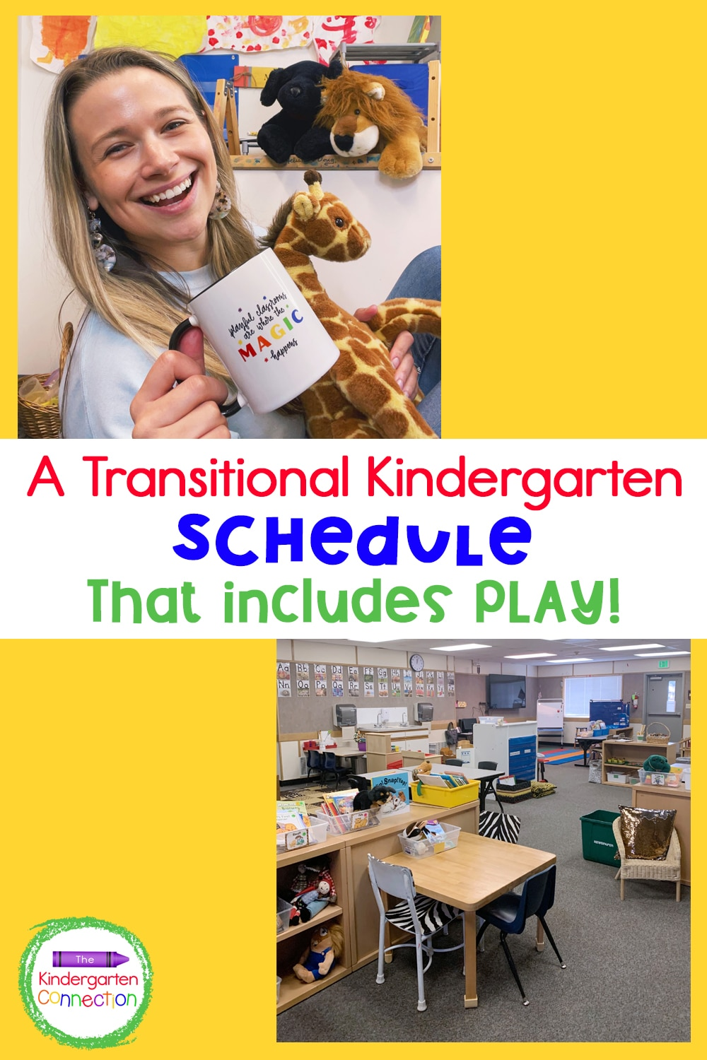 """Check out my daily Transitional Kindergarten schedule to take a peek at a """"normal"""" day in a TK classroom that includes PLAY!"""