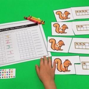 Acorn 10 Frame Math Puzzles