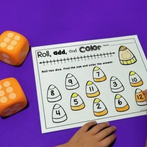 Candy Corn Roll and Color Games