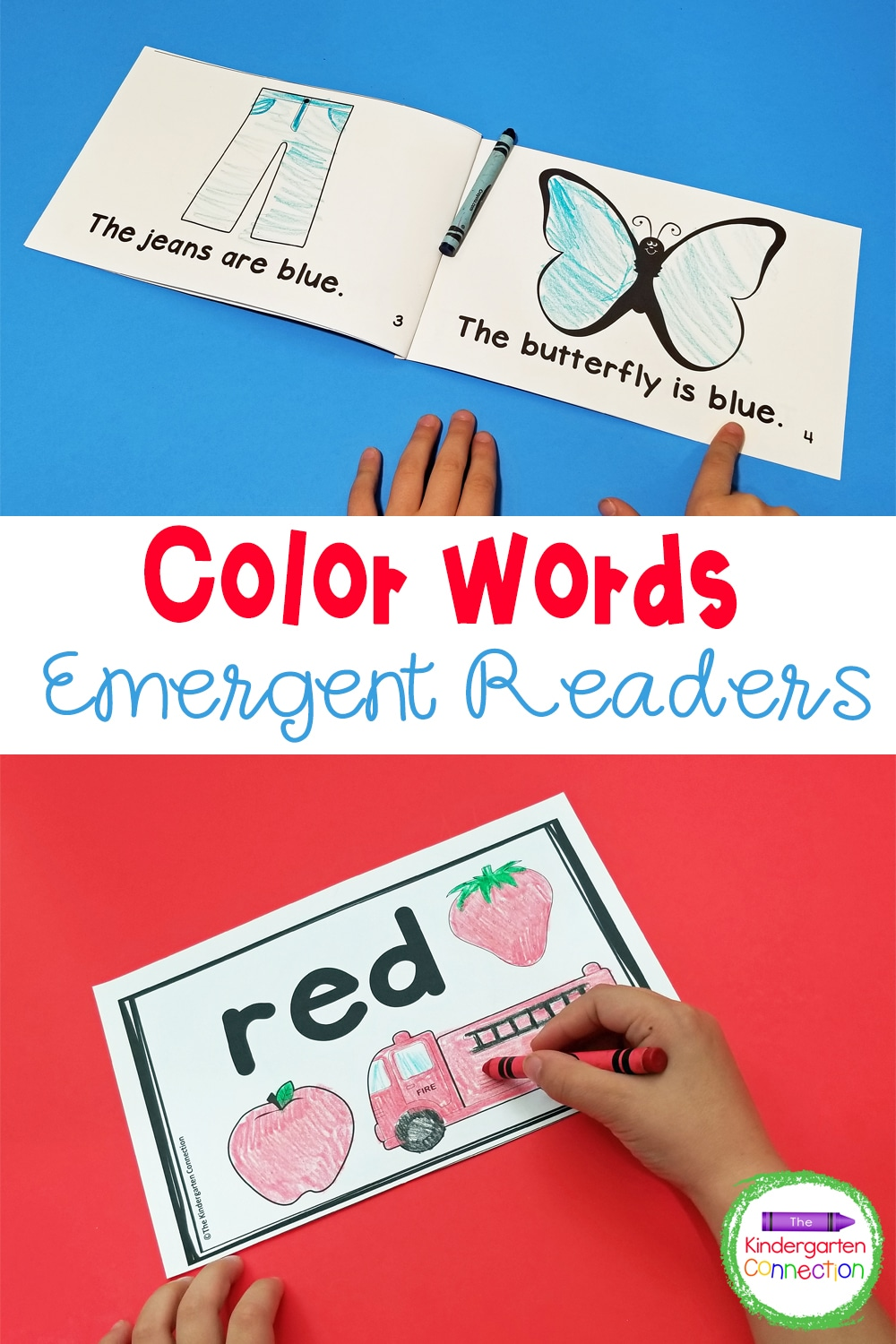 Strengthen color recognition and color word fluency with these engaging, low-prep Color Words Emergent Readers for Pre-K & Kindergarten!