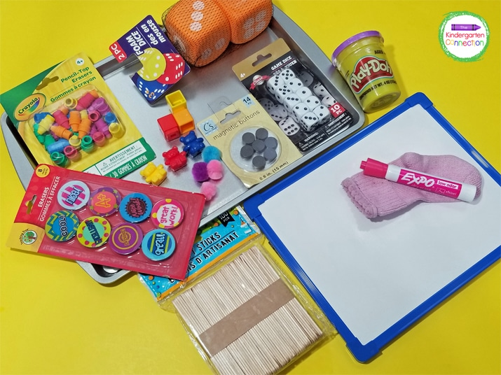 Dollar store teacher supplies like these can be a lifesaver for a teacher on a budget.