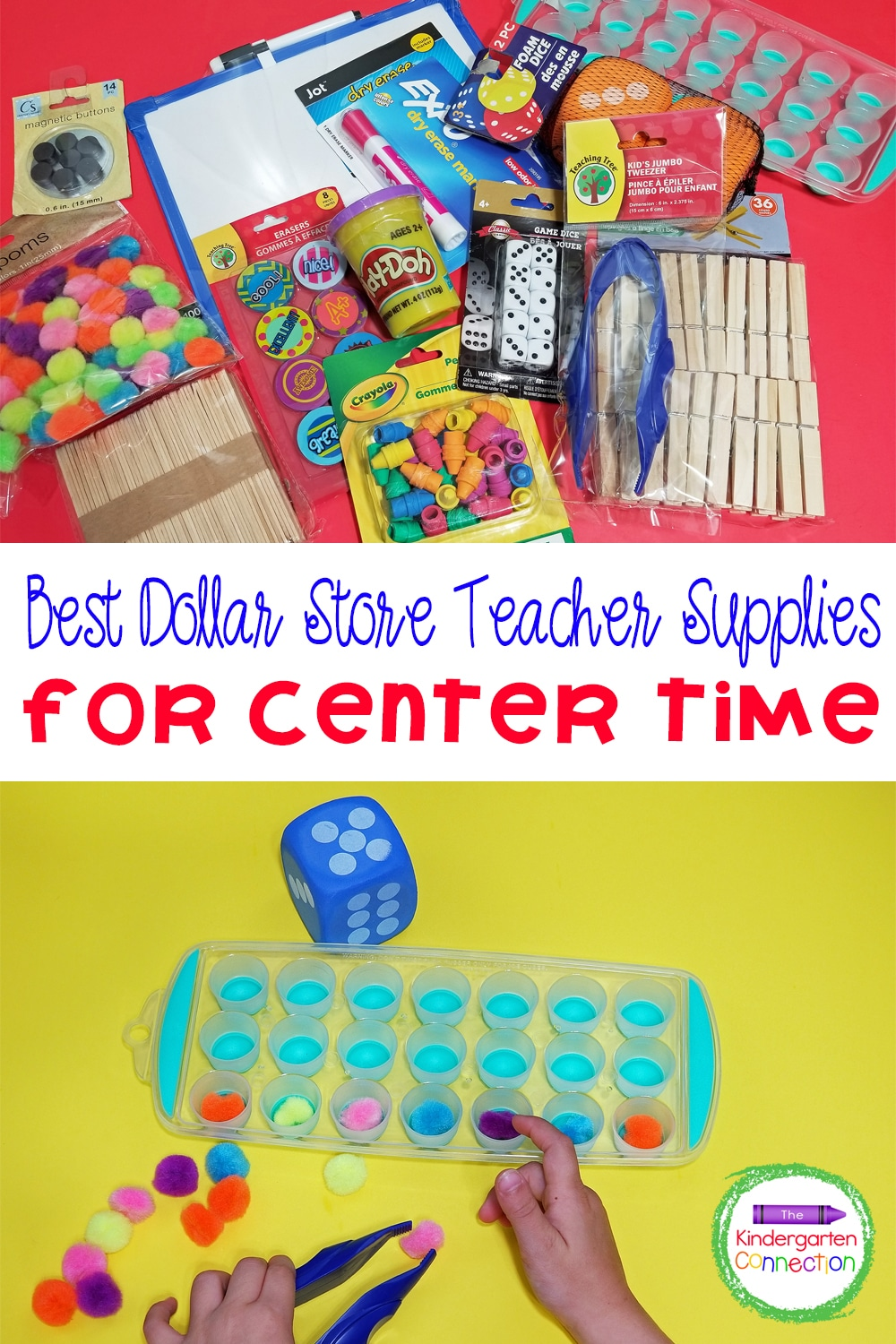 Check out some of my favorite dollar store teacher supplies perfect for hands-on learning in Pre-K and Kindergarten center time!