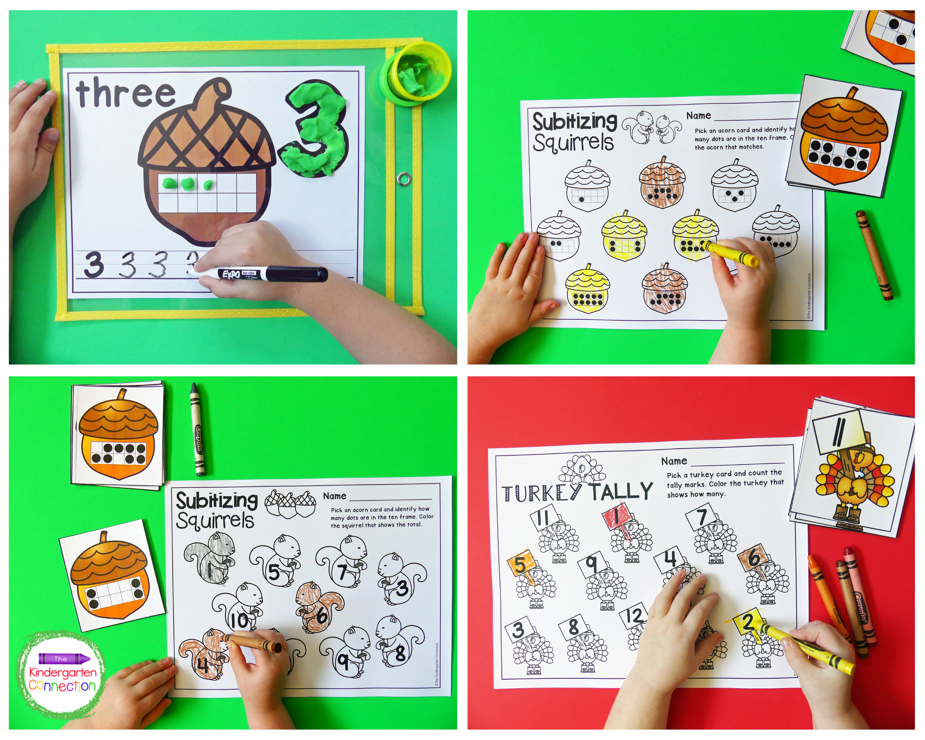 Math centers that cover multiple skills are also included in this resource pack.