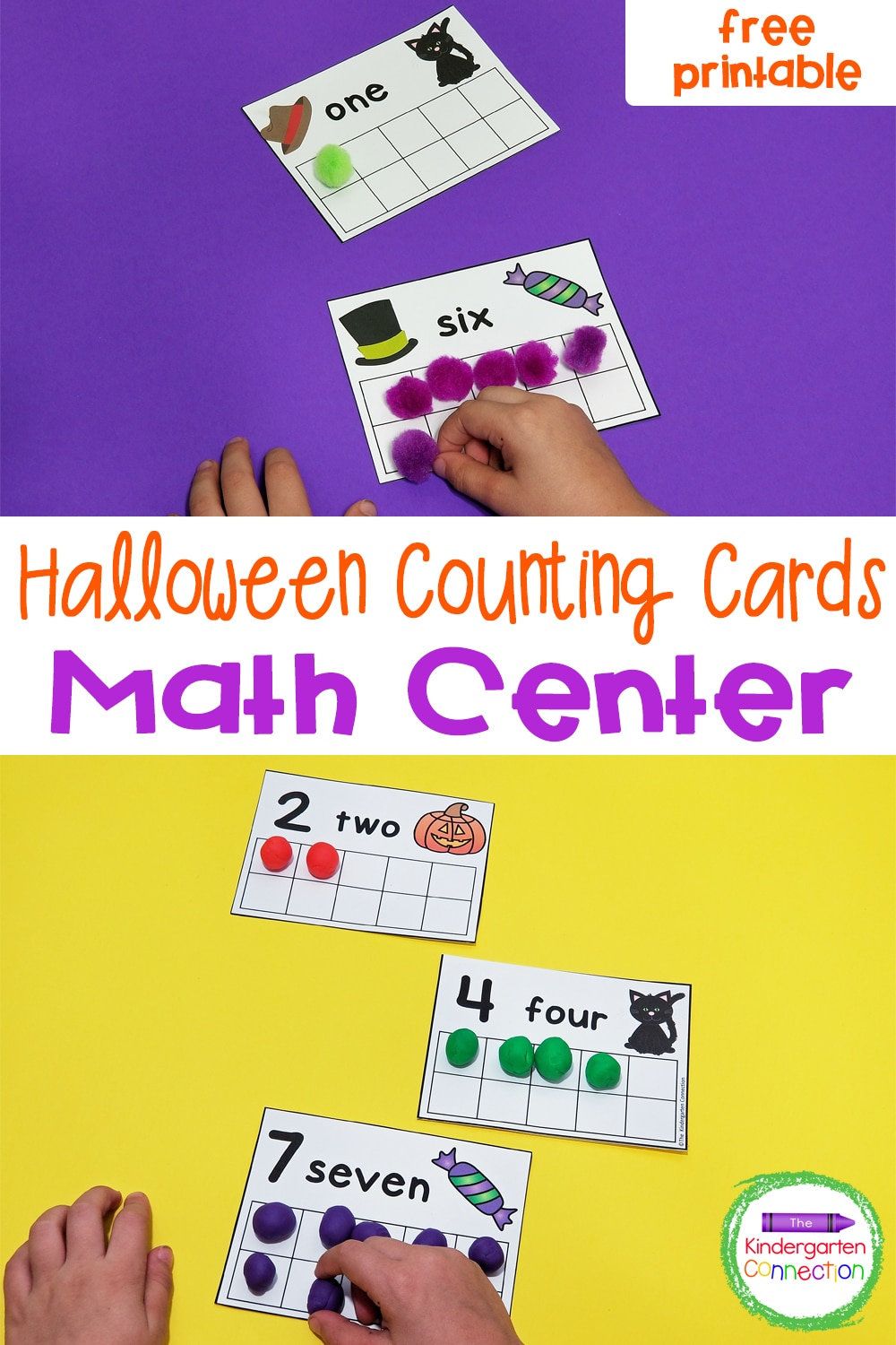 These free Halloween Counting Cards for Pre-K & Kindergarten will have your students excited to practice reading number words and counting skills!