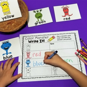 Color Monsters Write the Room Activity
