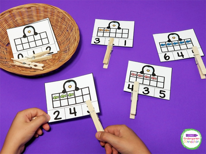 The interactive math activities like these counting clip cards will have your students super excited to learn!