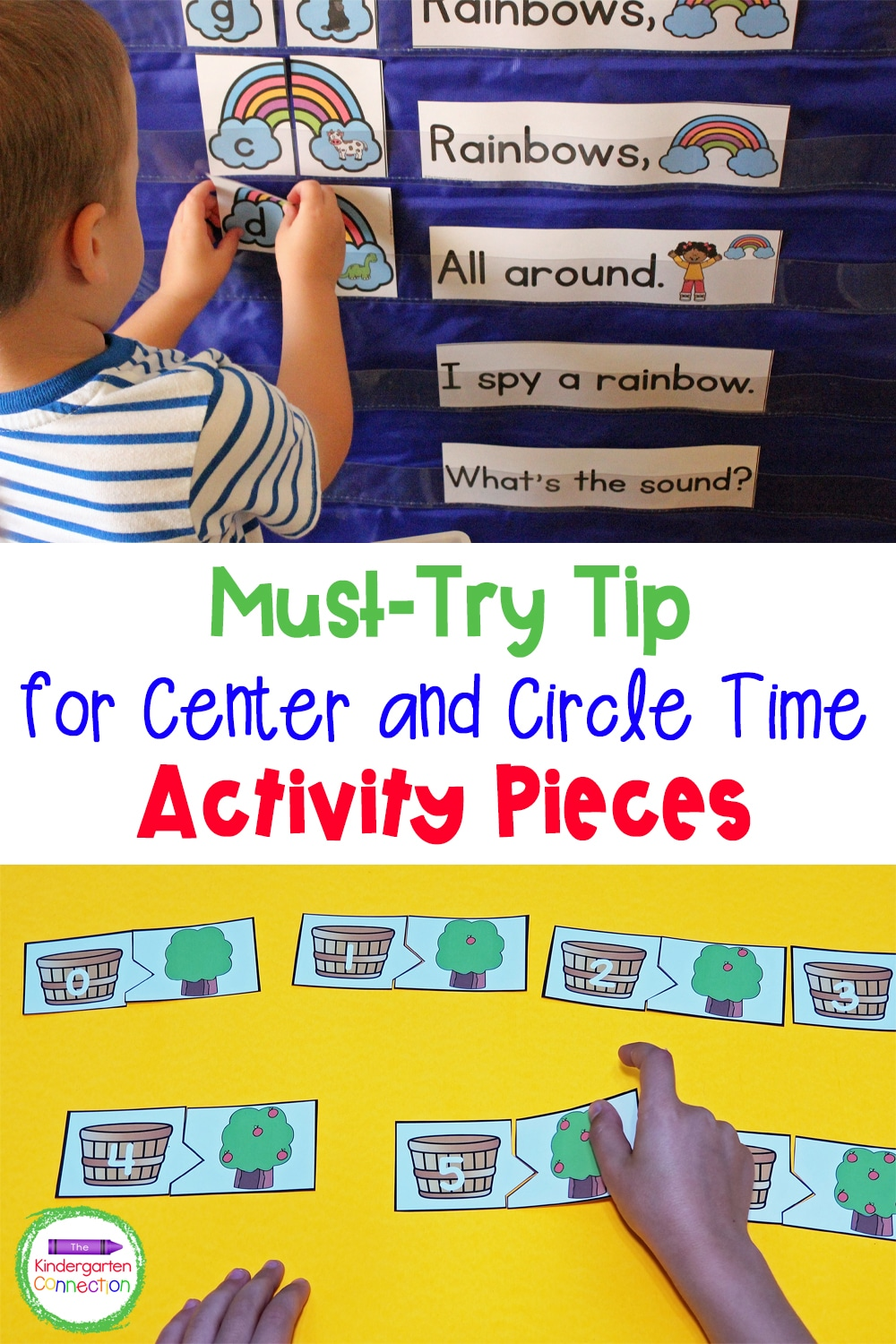"""This simple tip for Center Time and Circle Time activity pieces is a """"must-try"""" for staying stress-free and organized in the classroom!"""