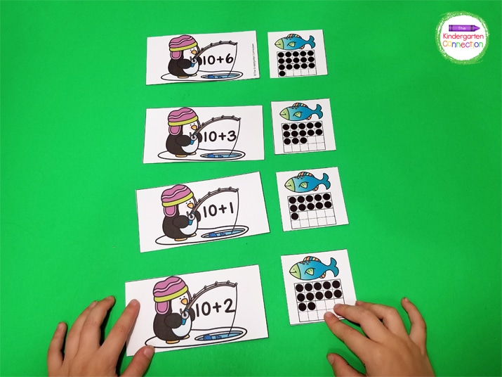 I typically introduce this activity as a matching game first in our small groups.
