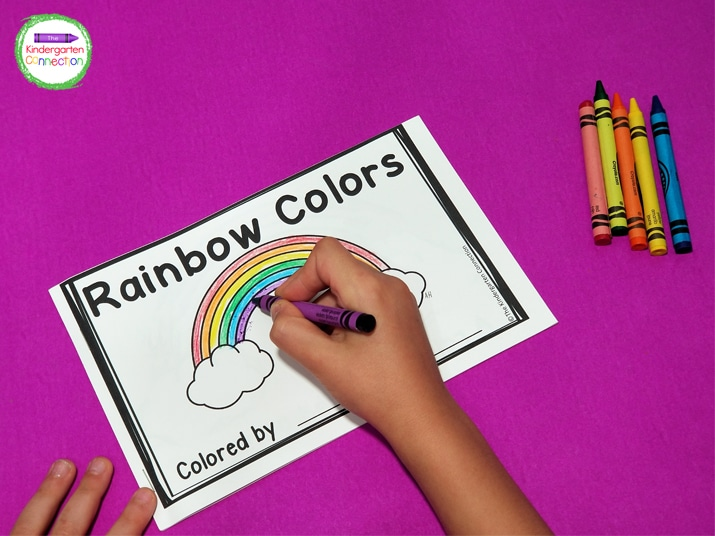 """The kids especially love writing their names on the cover where it says, """"Colored by____."""" It makes them feel like little illustrators!"""