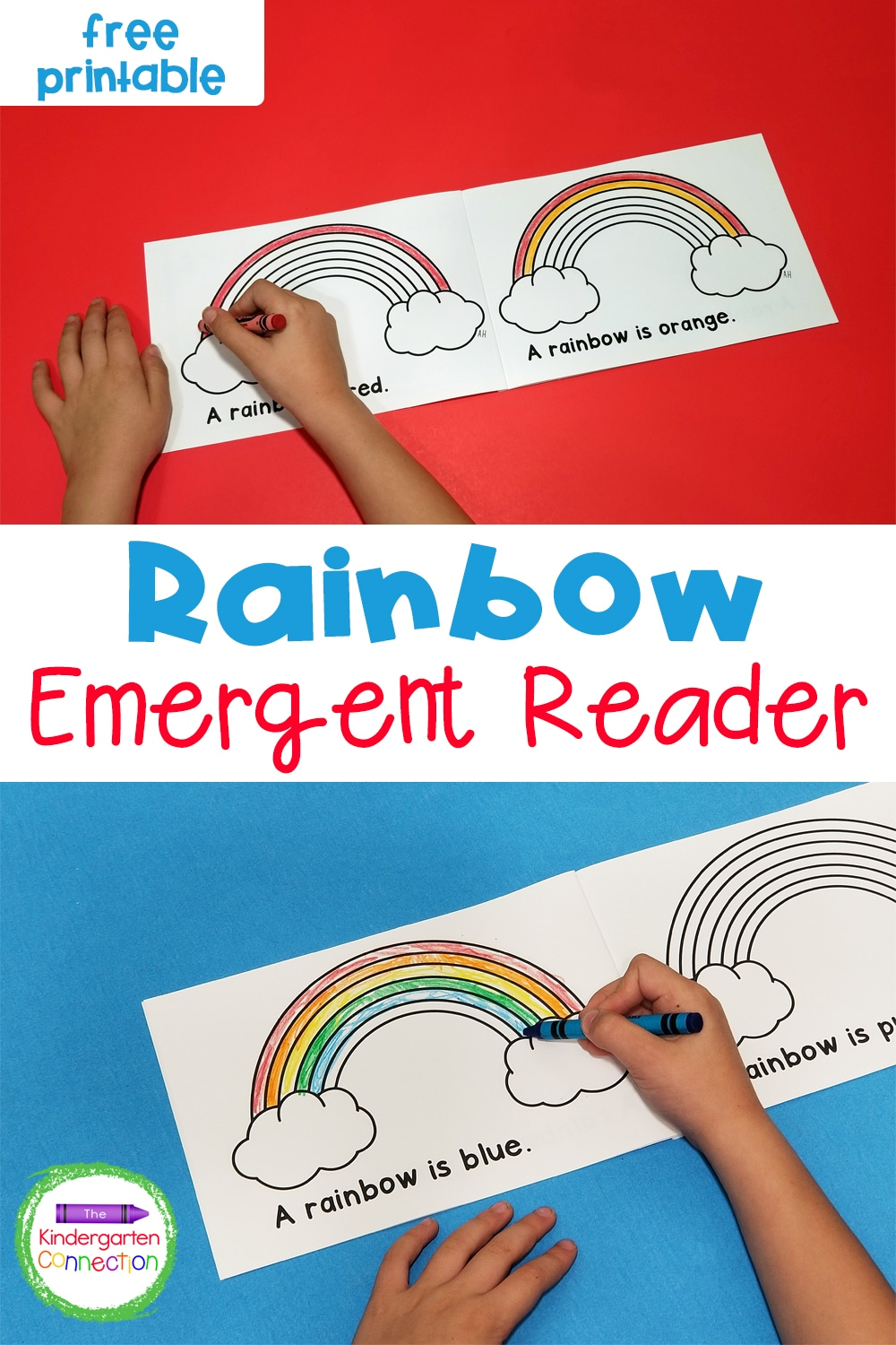 This free Rainbow Emergent Reader is perfect for spring! Work on color words and sequencing with this fun printable reader!